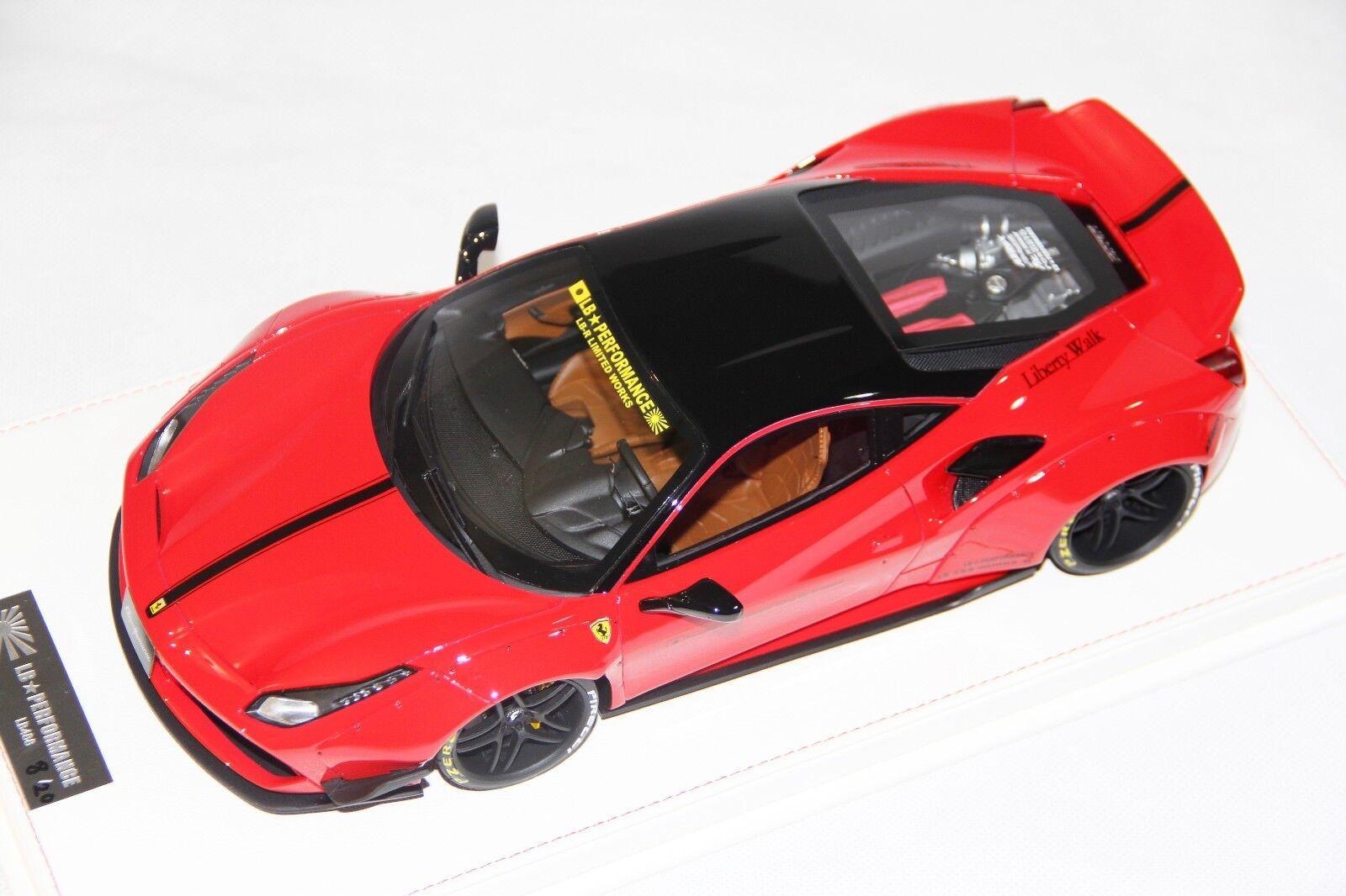 Ferrari 488 Liberty Walk LB Performance, F1 Red - Ltd Ltd Ltd 20 pcs LB Work 1 18 b8dcaf