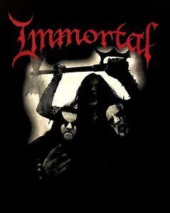IMMORTAL-cd-lgo-All-Shall-Fall-BAND-PHOTO-Official-SHIRT-MED-new