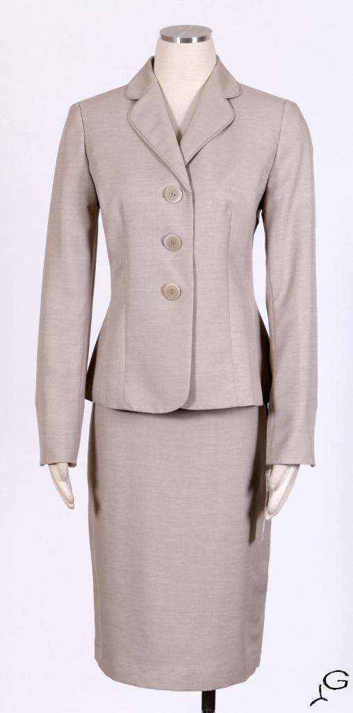 LE SUIT Sand Sz 4 Women's Skirt Skirt Skirt Suit  200 New c9f6e8