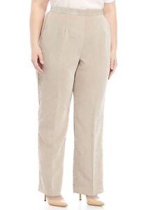 cf1533a3238 ALFRED DUNNER® Plus Size 16W-24W Eskimo Kiss Tan Corduroy Pants NWT ...
