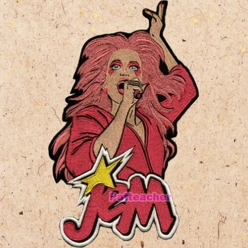 Jem & the Holograms Big Patch Misfitz Jerrica Benton Synergy Pizzazz Embroidered