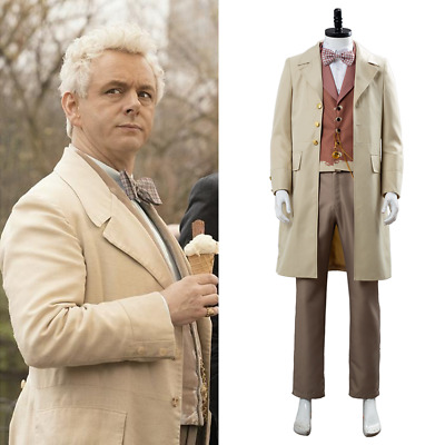 Good Omens Angel Aziraphale Michael Sheen Cosplay Costume Uniform Outfit Suit