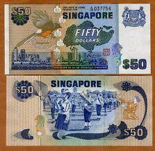 Singapore, 50 dollars, ND (1976), P-13a, UNC > Bird
