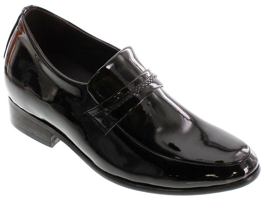 Calden K18132-6.6cm Ascensor Alto Aumento Negro Zapatos de Boda