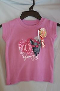 """Tops & T-shirts Farm Girl Pink T-shirt """"don't Go Bacon My Heart """" 2t Infants/toddlers Nwt Great Varieties"""