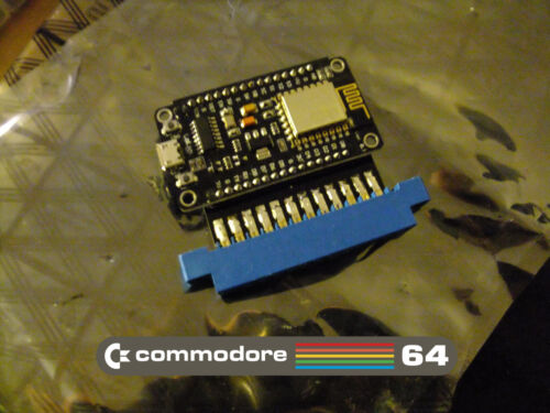 Connect your real C64 to BBS sites via Internet! COMMODORE 64 Wifi Modem