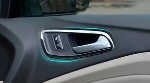2013 ford escape interior door handle chrome interior door handle bowl cover trim 4pcs for ford