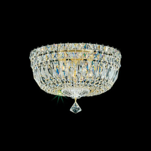 12    Schonbek Flush Mount 5-Light Deluxe Swarovski Crystal Lighting Fixture