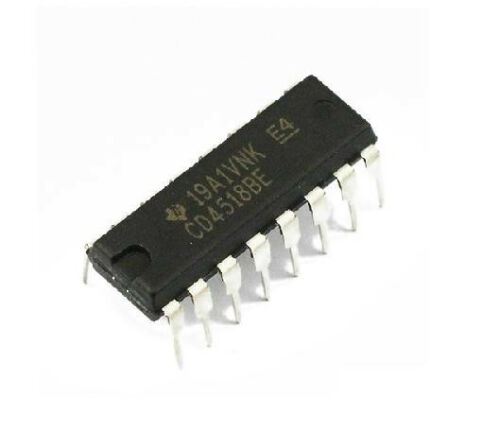 2PCS CD4518BE CD4518 TI DIP-16 DIP16 CMOS Dual UP-compteurs 100/% Original