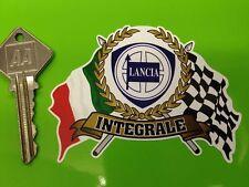 LANCIA DELTA INTEGRALE Garland Flags & Scroll classic car sticker 8V 16V Evo