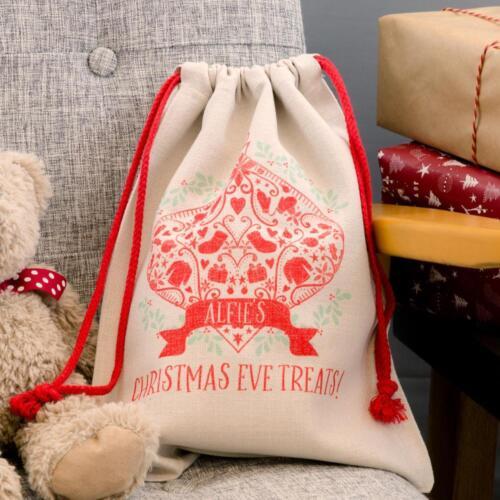 Personalised Decorative Christmas Santa Sack Stocking BagIdeal for Kids