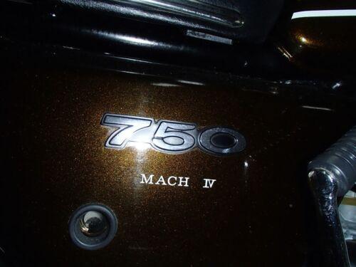 The BEST! Kawasaki H2 750 Triple 1974 H2b Decal set  BROWN BIKE