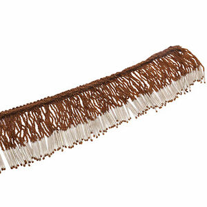 Brown Upholstery Trim Curtain Tassel Beaded Ribbon Crafting Sewing By 1 Yard