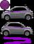 Fiat-500-Autocollant-Bandes-Stickers-adhesifs-decoration-couleur-au-choix miniatura 12