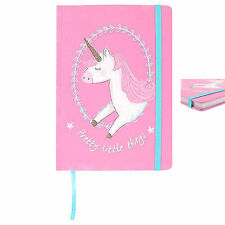 pretty little things unicorn pink white large a5 notebook 21x15x1