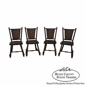 Old Hickory Antique Set Of 4 Rustic Dining Chairs Ebay