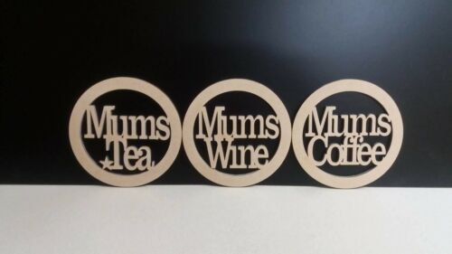 Coasters Mdf 10cm Mums Coffee Mums Tea Mums Wine perfect for Mothers Day