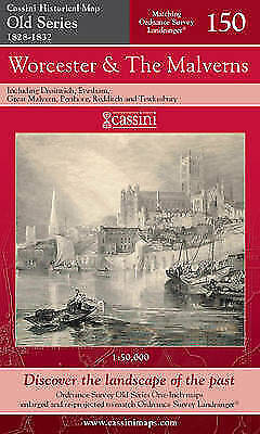 Worcester and the Malverns by Cassini Publishing Ltd(Sheet map,folded,2006)NEW