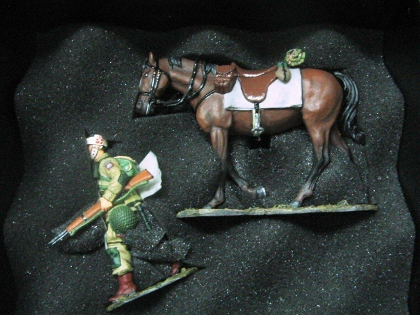 WOW WOW EXTREMELY RARE King & Country D Day DD072 US 82nd Wounded Para w  horse BNIB