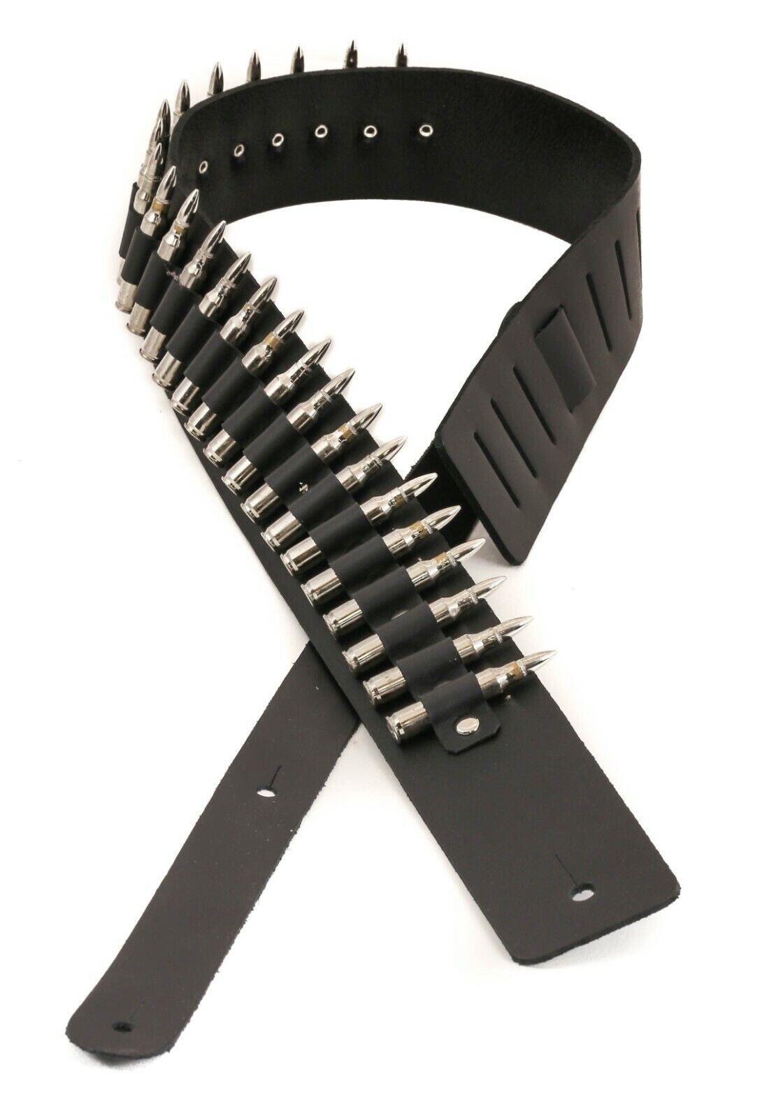 Bullet Belt Nickel Shell Nickel Conseils Calibre .223 Argent Lié Punk Rock Thrash