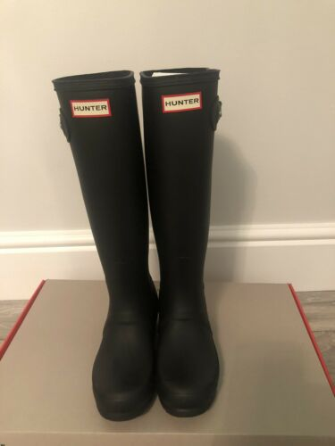 Bnib Black Women's Wellington 3 Wellies Hunter Tall Uk FwUTxRq