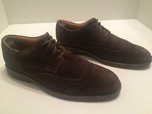 Sperry-Top-Sider-Gold-Cup-Mens-Brown-Suede-Wingtips-Size-10-M