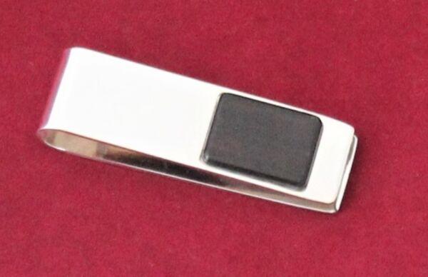 Gutherzig Moneyclip Geldklammer 925 Silber Massiv Mit Ebenholz Schmuckstück Herren Damen Diversifiziert In Der Verpackung