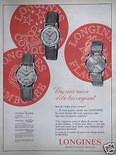PUBLICITÉ 1960 LONGINES FAMBORÉE LONGUEST FLAGSHIP MONTRES SUISSE - ADVERTISING