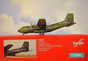 Herpa Wings 1 500 Transall C-160 Armée de L'air ltg 62 Flyout Wunsdorf 529525