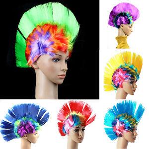 Punk-Mohican-Rocker-Wigs-Mohawk-Wig-Party-Fancy-Costume-Mohawk-70s-80s-Un-Sale