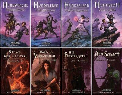 Fantasy Bücher Hart Arbeitend Bundle-8 X Das Schwarze Auge-dsa-hundstage-der Kristall Von Al´zul-fantasy