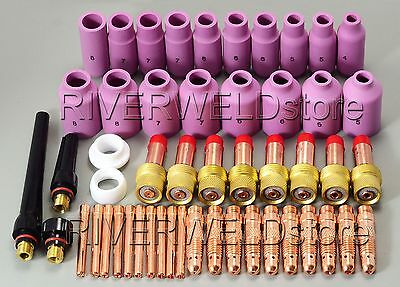 TIG KIT & TIG Welding Torch Consumables Accessories FIT WP 17 18 26 Series 51pcs
