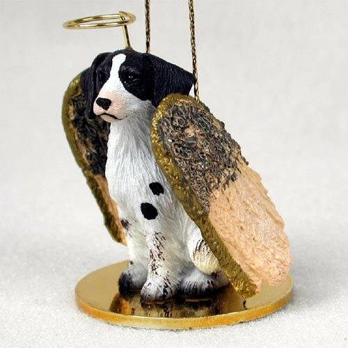 NEW BRITTANY Liver Angel Dog Ornament Figurine Statue