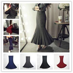 New-Lady-Slim-Long-Fishtail-Skirt-Woman-Bodycon-One-step-Skirt-Pencil-Skirt