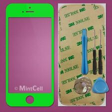 LCD Front Screen Glass Lens Replacement Green for iPhone 5 + Sticker/Tools