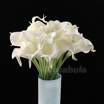 6Head 8Color Real Latex Calla Lily Flower Bridal Bouquets Wedding and Home Decor