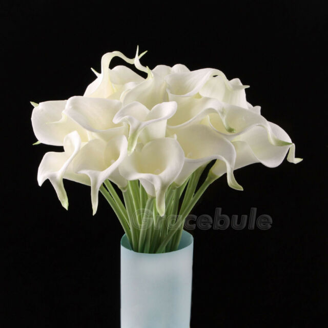 6-20 Head Real Latex Touch Calla Lily Flower Bouquets Bridal Wedding DIY Bouquet