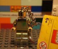 LEGO 850807 Gold Chrome Minifigure Keychain w/ Tags Attached