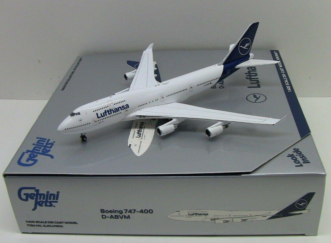 Gemini Jets Lufthansa Boeing 747-400 D-ABVM 1 400 GJDLH1826