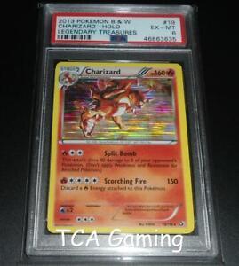 PSA 6 EX-MINT Charizard 19/113 BW Legendary Treasures HOLO RARE Pokemon Card