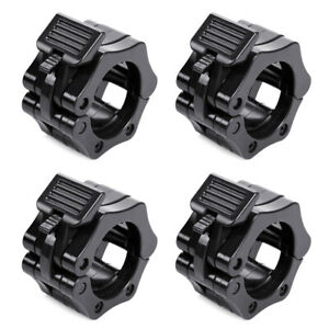 4x 1/'/' Barbell Clamp Collar Clips for Olympic Dumbbell Weight Bar Quick Release