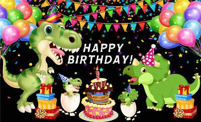 Dinosaur Birthday Party Vinyl Studio Backdrop Photo Background Photography 7x5ft Ebay