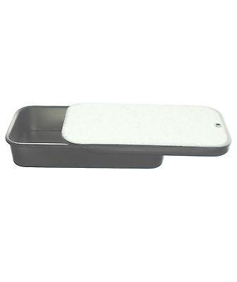 Small Plain Silver Aluminium Tin with Slide Lid - 48x23x9mm (Slight damage)