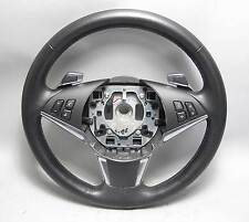 BMW E60 5-Series E63 Factory Leather Steering Wheel for Sport Auto w Paddles OEM