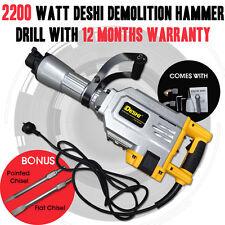 NEW Deshi 2200W Demolition Jack Hammer Commercial Grade Demolition Jackhammer