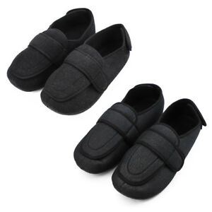 f1199c3ace26 Mens Extra Wide Slip on Shoes Adjustable Diabetic Edema Swollen Feet ...