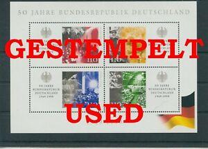 Germany-Federal-Frg-vintage-yearset-1999-Block-49-Postmarked-Used-More-Sh-Shop
