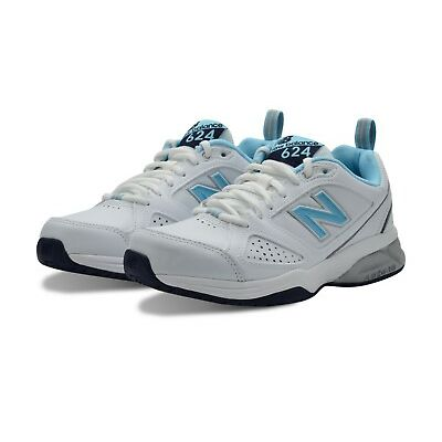 New Balance WX624WB Womens Cross Trainer (White/Blue) + FREE AUS DELIVERY