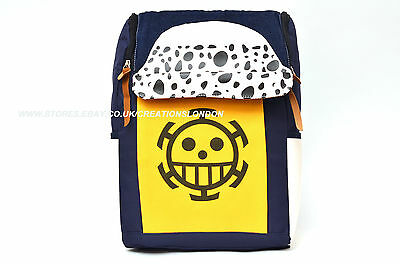 One Piece Trafalgar Law Logo blue//yellow Canvas Backpack bag OPBP1