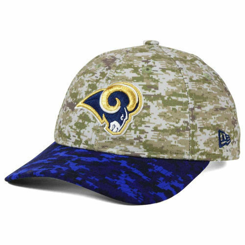 Los Angeles Rams New Era NFL Women s Salute to Service 9TWENTY Camo Cap Hat  LA 4f4188ad9189